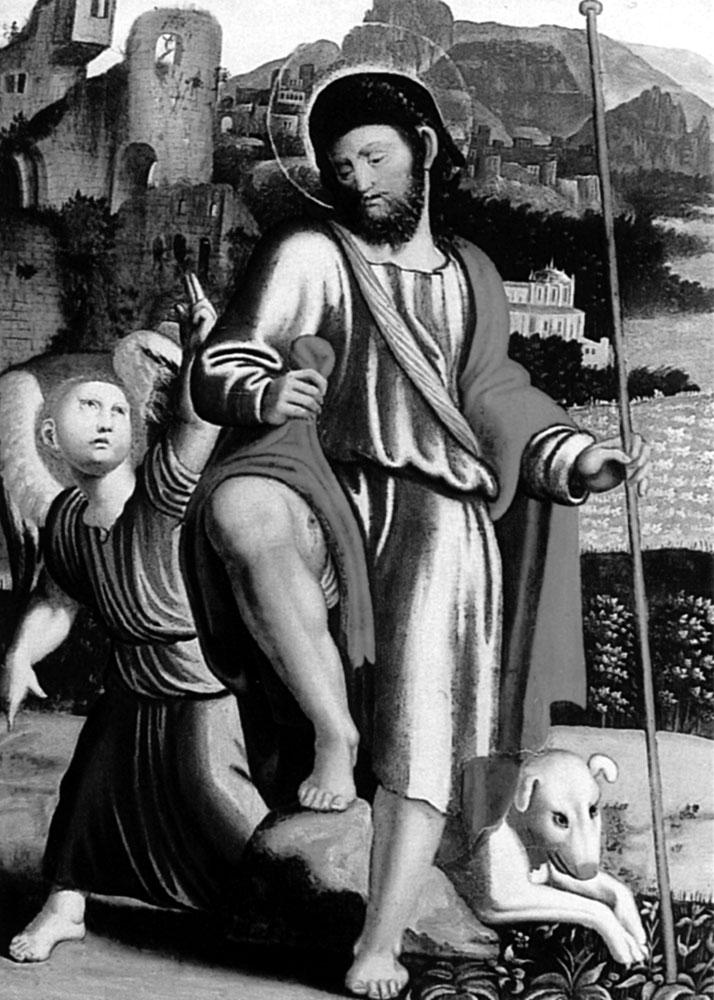 Рис. 8. Собаки часто изображались на художественных полотнах религиозной тематики и на надгробиях