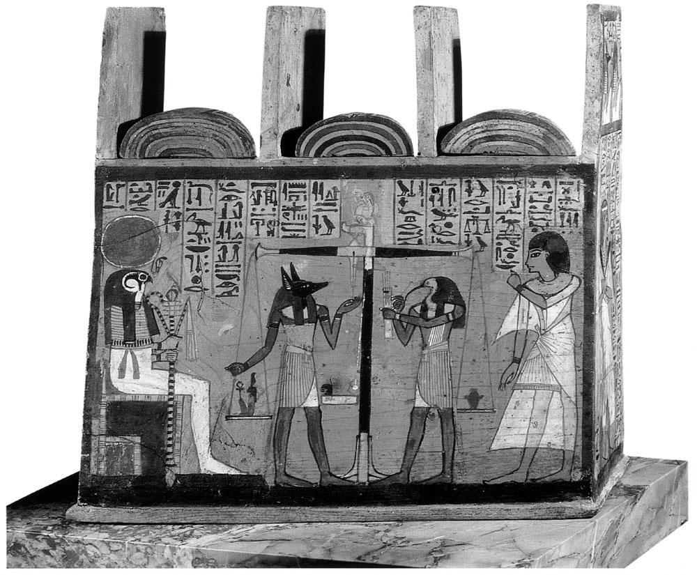 Рис. 1. Египетский бог умерших Анубис изображался в виде собакоголового человека