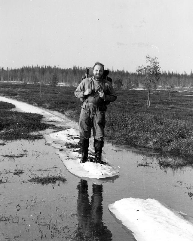 Автор на дороге от «Бурана». Весна. 1986 г.