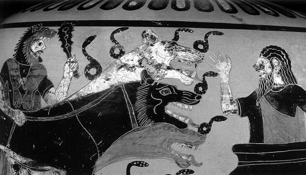 Рис. 3. Цербер — чудовищный страж Аида, царства мёртвых.