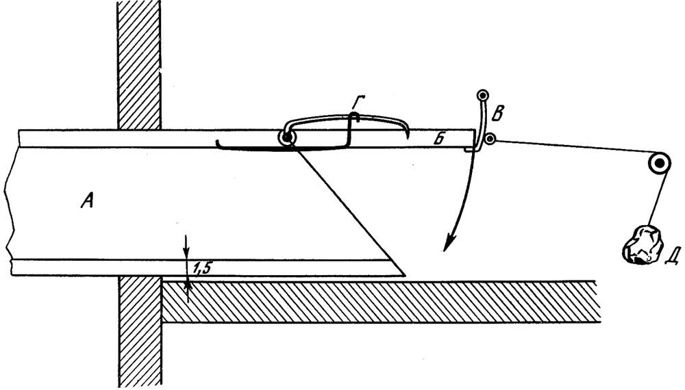 Деталь насторожки к кормушке-ловушке «амбарчик»