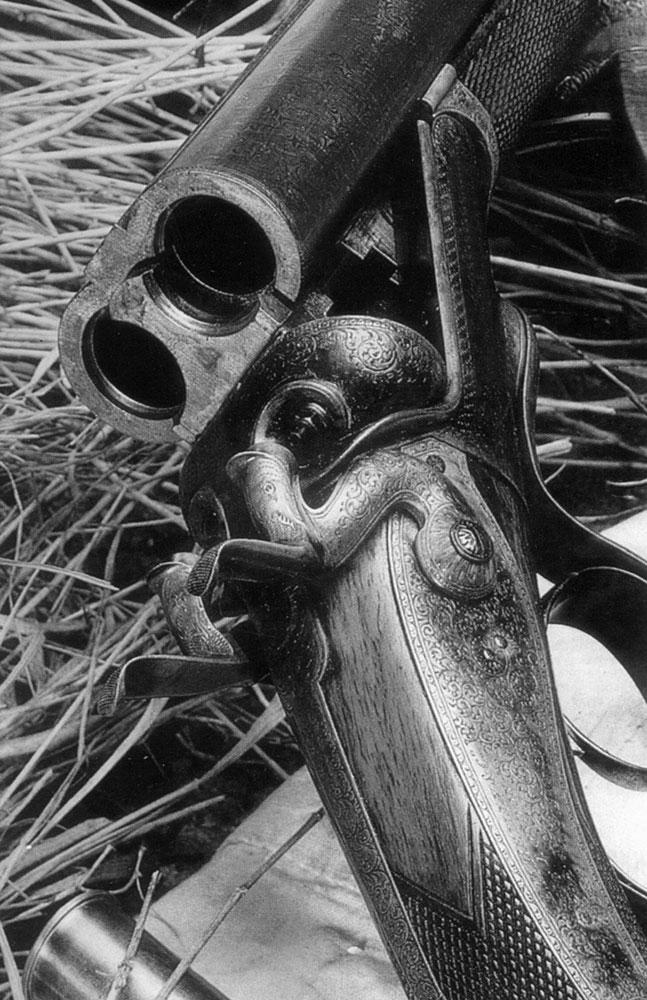 Двуствольный переломный штуцер 8-го калибра