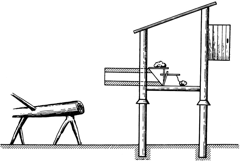 Кормушка-ловушка для соболя — «амбарчик»