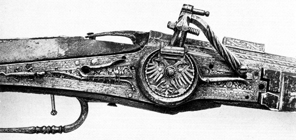 Охотничье ружьё 1541 г. с колёсным замком из Нюрнберга