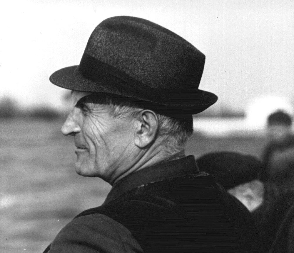 Константин Алексеевич Ястребов на Московском море. 1967 г.