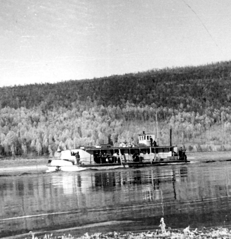 Вот такие речные «трамваи» ходили по Лене. Фото 1959 г.