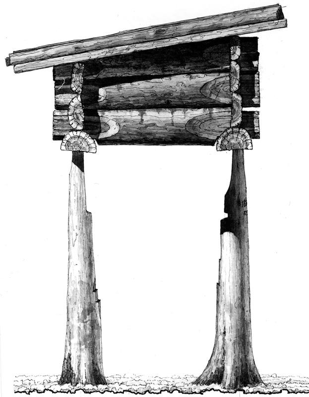 Охотничий лабаз. Обмер-реконструкция