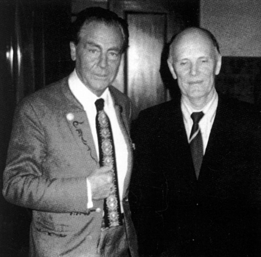 Президент Академии наук Украины Борис Евгеньевич Патон и Эдуард Александрович Фальц-Фейн. Май 1981 г