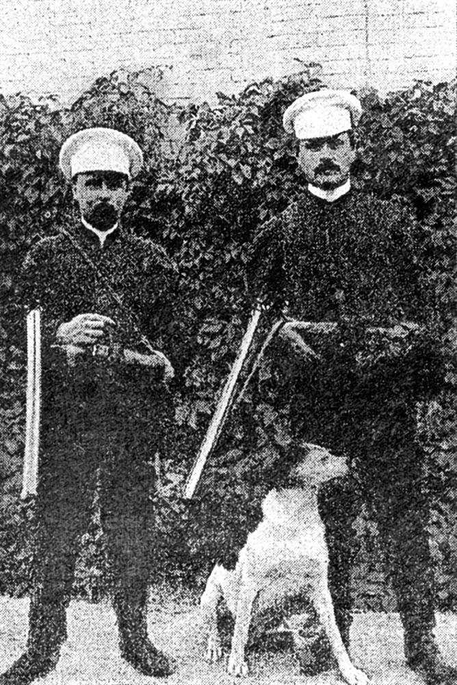 Украинский писатель Александр Ярошко часто гостил в Аксании-Нова у Фридриха Эдуардовича. 1897 г.