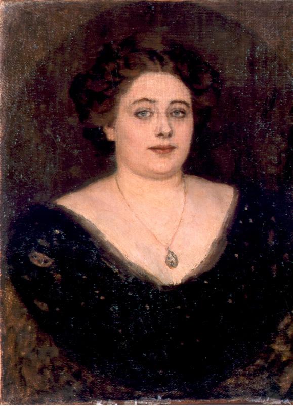 Олимпиада Михайловна Клодт фон Юргенсбург. Портрет, написанный В. И. Суриковым