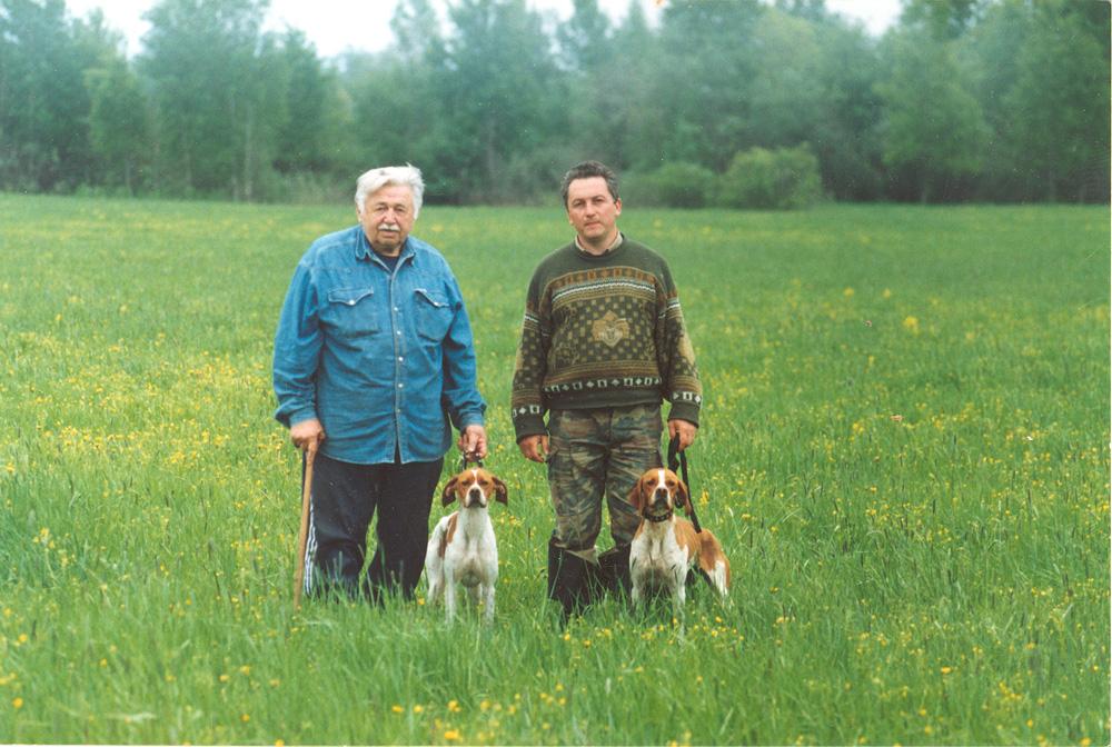 А.С.Блистанов (слева) с любимым пойнтером