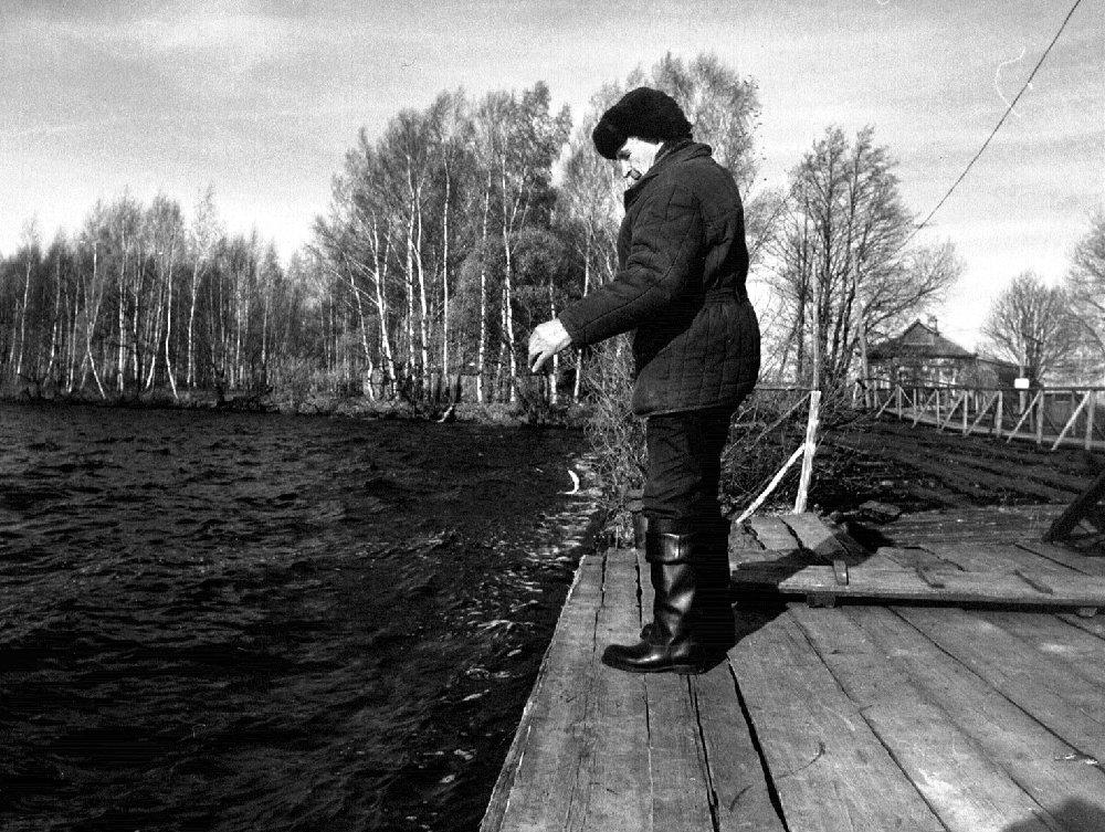 Всегда с собой удочка с мормышкой... Московское море, охотбаза «Бревново», октябрь, 1986 г.