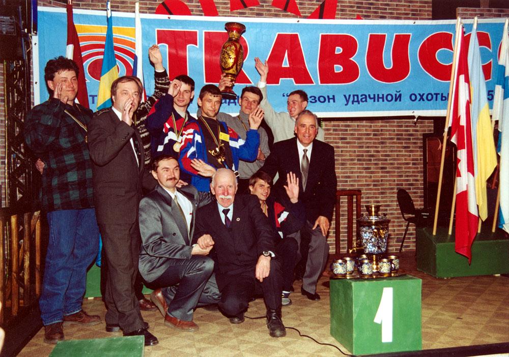Первые чемпионы мира (сборная «Росохотрыболовсоюз» — Россия) по ловле рыбы со льда на мормышку