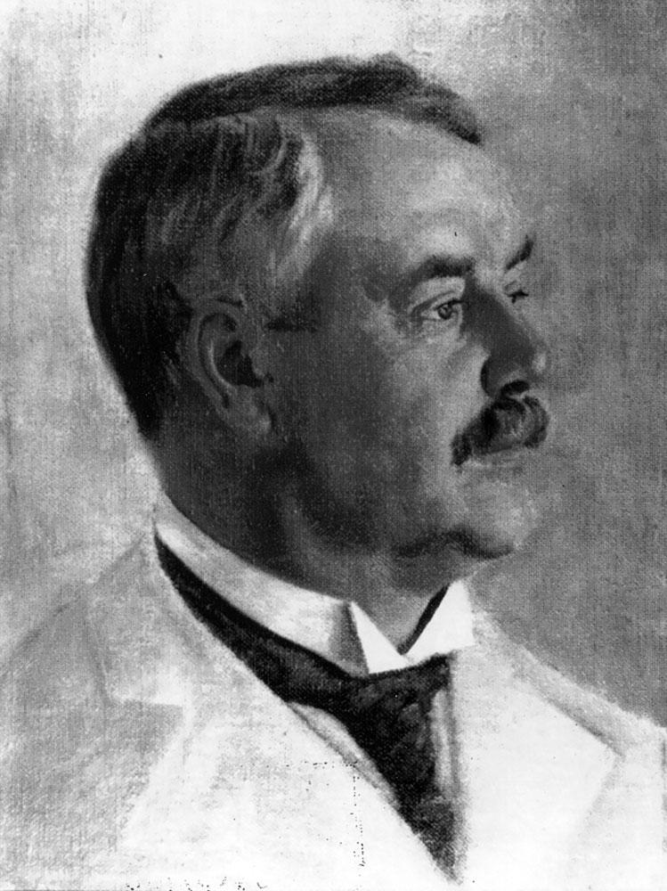 Фридрих Эдуардович Фальц-Фейн. Портрет художника Х. Унгевитора, 1910 г.