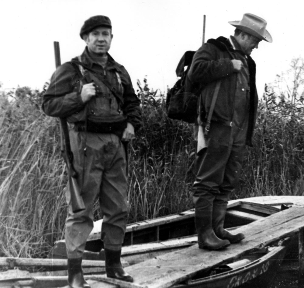 А. Леонов и А. Филипченко прибыли к месту охоты на уток