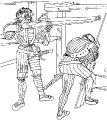 Заряжание и стрельба из ручниц (около 1500 г.)