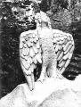 Птица Сирин на могиле М. Пришвина (скульптор С. Т. Конёнков)